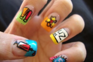 Nail , 7 Cartoon Nail Designs : cartoon nail art designs