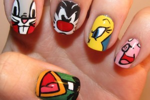 Nail , 7 Cartoon Nail Designs : cartoon nail designs