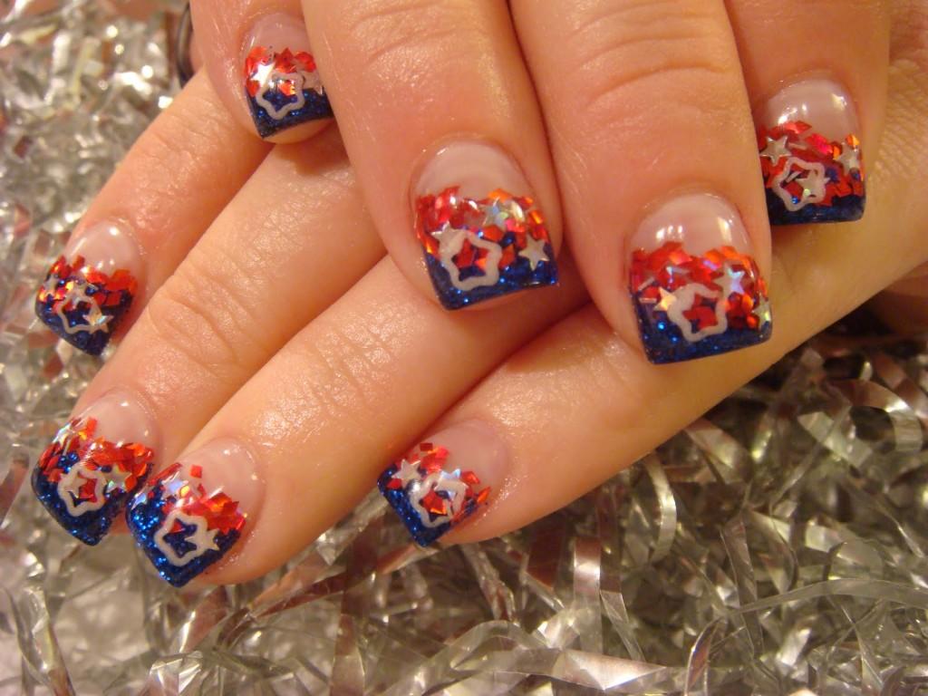 Nail , 6 Fourth Of July Nail Designs : Cute 4th Of July Nail Designs