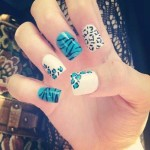 cute blue prom nail design , 6 Blue Prom Nail Designs In Nail Category