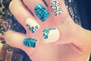 Nail , 6 Blue Prom Nail Designs : cute blue prom nail design