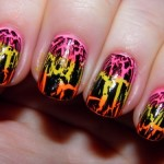 cute crackle nail art , 6 Crackle Nail Designs In Nail Category