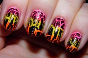 Nail , 6 Crackle Nail Designs : cute crackle nail art