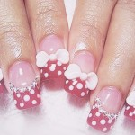 cute minnie mouse nail art , 5 Minnie Mouse Nail Art In Nail Category