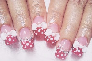 Nail , 5 Minnie Mouse Nail Art : cute minnie mouse nail art