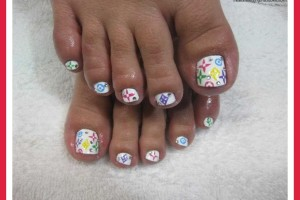 Nail , 7 Crackle Toe Nail Designs : cute toenail design ideas