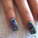 dark water marble nails , 6 Swirl Nail Designs In Nail Category