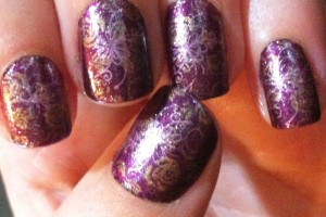 Nail , 6 Purple Prom Nail Designs : deep Purple prom nails art