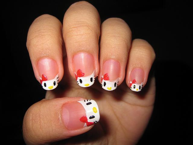Nail , 6 Hello Kitty Nail Designs : Easy Hello Kitty Nail Designs