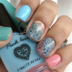floral nail art , 6 Turquoise Nail Designs In Nail Category