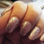 glitter gold nail art polish , 6 Gold Nail Polish Ideas In Nail Category