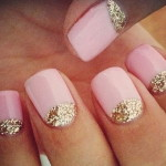 glitter gold pink prom nail designs , 6 Prom Nail Designs In Nail Category
