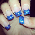 glossy blue metallic nail art , 6 Blue Prom Nail Designs In Nail Category