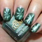 green magnetic nail polish , 8 Magnetic Nail Polish Designs In Nail Category