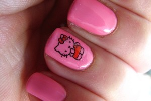 375x500px 6 Hello Kitty Nail Designs Picture in Nail