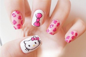 600x450px 6 Hello Kitty Nail Designs Picture in Nail
