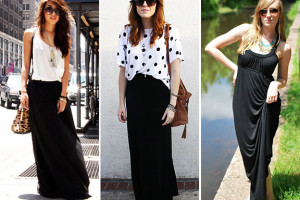 Fashion , 6 Trick How To Wear A Long Black Maxi Dress : how to wear a long black maxi dress
