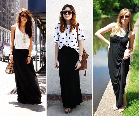 6 Trick How To Wear A Long Black Maxi Dress in Fashion