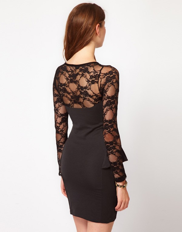 Fashion , 9 Black Lace Dress With Long Sleeves : Lace Dress With Long Sleeves