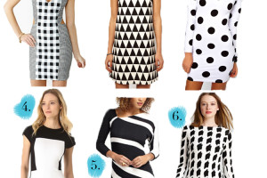 Fashion , 10 Little Black And White Dress : little black and white dress