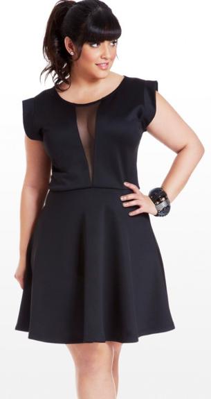 Fashion , 11 Little Black Dresses Plus Size Women : Little Black Dress For Curvy Women