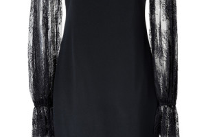 415x600px 9 Black Lace Dress With Long Sleeves Picture in Fashion
