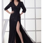 long black bridesmaid dress , 6 Long Black Dresses For A Wedding In Fashion Category