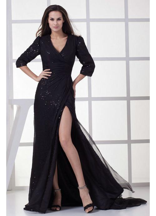 Fashion , 6 Long Black Dresses For A Wedding : Long Black Bridesmaid Dress