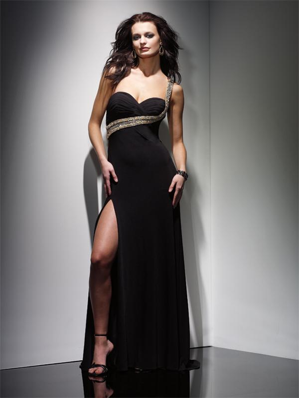 Long Black Chiffon Bridesmaid Dresses : 10 Sexy Long Black Dress ...