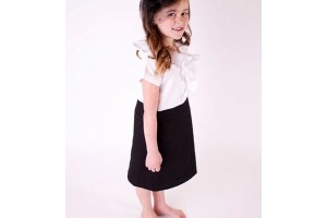 Fashion , 4 Black Little Girl Dresses : long black dresses for kids