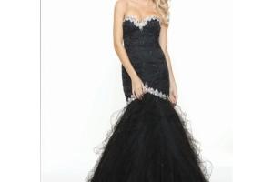 Fashion , 8 Long Black Mermaid Dress : long black mermaid bridesmaid dresses