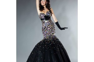 Fashion , 8 Long Black Mermaid Dress : long black prom dresses