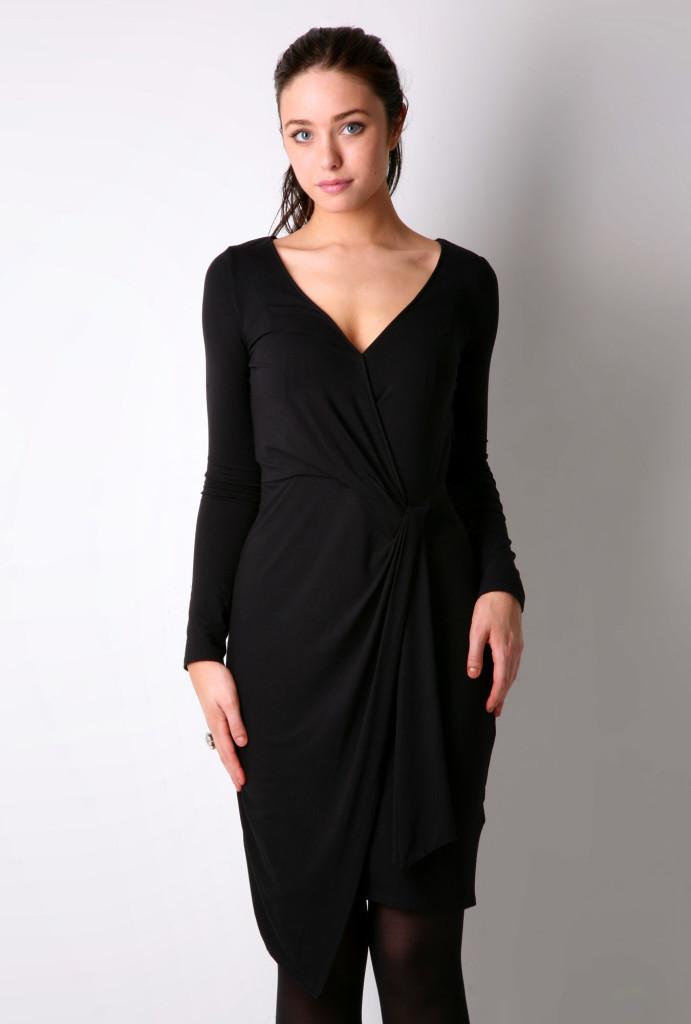 Fashion , 8 Long Sleeve Black Wrap Dress : Long Sleeve Black Shift Dress