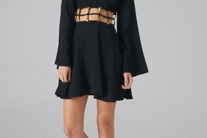 Fashion , 7 Long Sleeve Black Skater Dress : long sleeve black skater dress