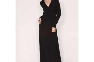 730x730px 8 Long Sleeve Black Wrap Dress Picture in Fashion