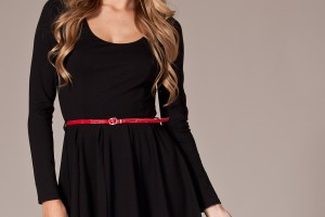 Fashion , 7 Long Sleeve Black Skater Dress : long sleeve skater dress
