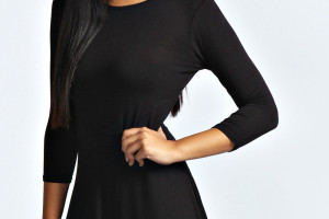 Fashion , 7 Long Sleeve Black Skater Dress : long sleeved lace dress
