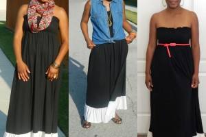 Fashion , 6 Trick How To Wear A Long Black Maxi Dress : maxi dress worn different ways