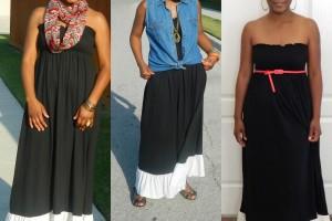 Fashion , 6 Trick How To Wear A Long Black Maxi Dress : maxi dress worn different ways