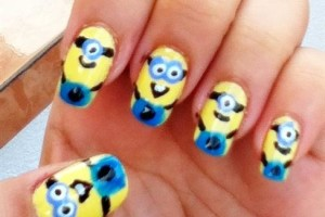 Nail , 7 Cartoon Nail Designs : minion nails art design