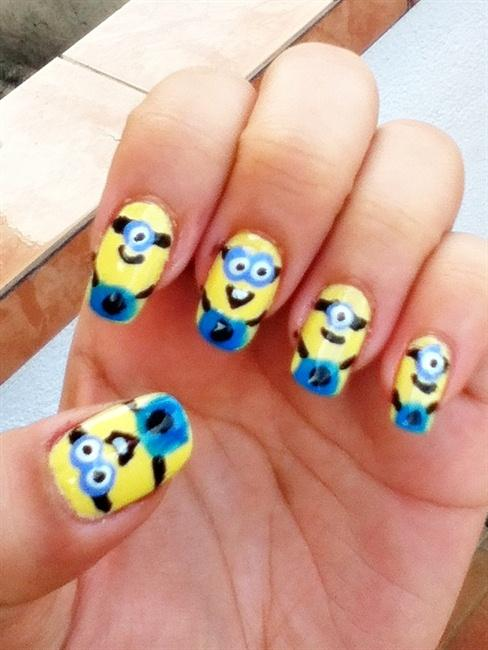 Character Design Nail Art : Minion nails art design cartoon nail designs woman