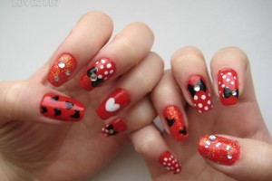 Nail , 5 Minnie Mouse Nail Art : minnie mouse nail art