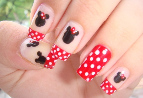 Minnie mouse nail art cutepolish 5 minnie mouse nail art woman large 584 x 400 prinsesfo Image collections