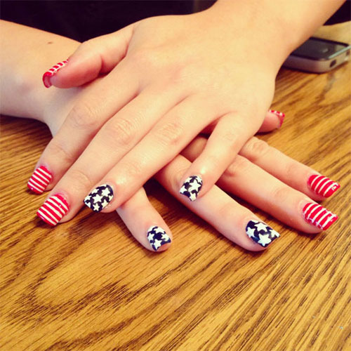 Nail , 6 Fourth Of July Nail Designs : Nail Art Designs July 4
