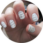 newspaper nail art , 7 Newspaper Nails Designs In Nail Category