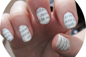 Nail , 7 Newspaper Nails Designs : newspaper nail art
