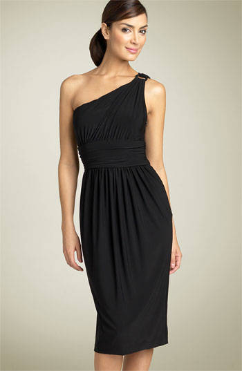 Little Black One Shoulder Cocktail Dress
