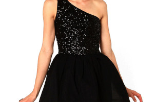 Fashion , 9 Styles Of One Shoulder Little Black Dress : one shoulder homecoming dresses