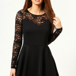 ong sleeve black skater dress , 7 Long Sleeve Black Skater Dress In Fashion Category