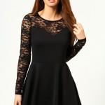 Ong Sleeve Black Skater Dress , 7 Long Sleeve Black Skater Dress In Fashion Category